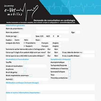 Formulaire de réquisition télémédecine en cardiologie