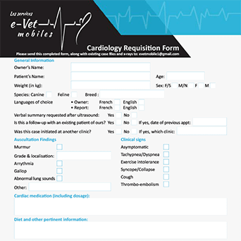 Cardiology requisition form